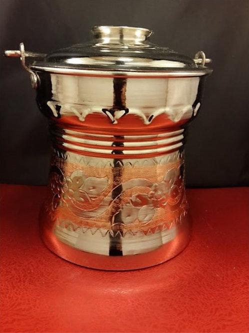 10 x TURKISH COPPER SOUP / AYRAN / YOGURT PAN, 2 L (67,62 oz)
