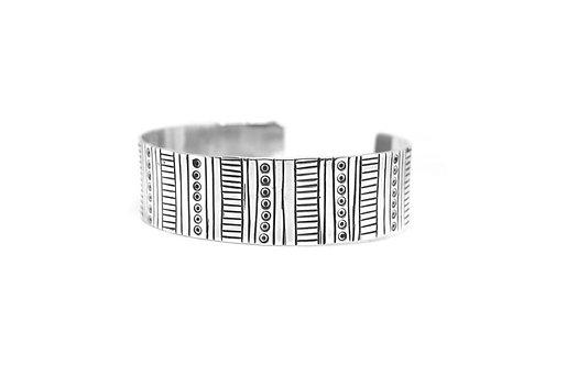 Broad etched cuff