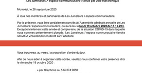Avis de convocation - AGA 2019-2020.