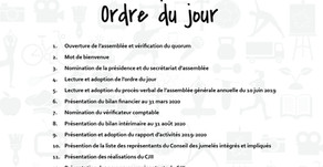ORDRE DU JOUR - AGA 2019-2020
