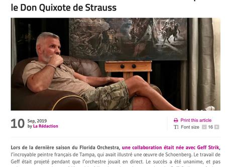 Le Courrier de Floride: Interview Sept 2019