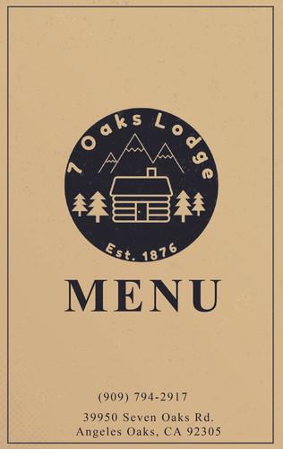 Seven Oaks Lodge Restaurant Menu