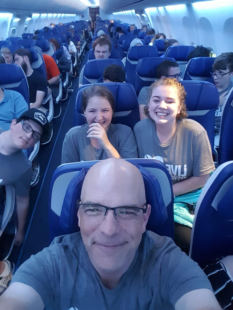 Airplane Selfie on the way to the National Youth Gathering