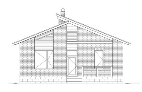 "Дом ""Ма"". фасад со стороны ыхода."