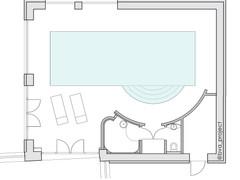 План помещения бассейна
