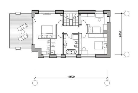 "Дом ""М"". План второго этажа."