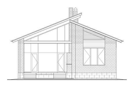 """Дом """"Ма"""". Фасад со стороны участка."""