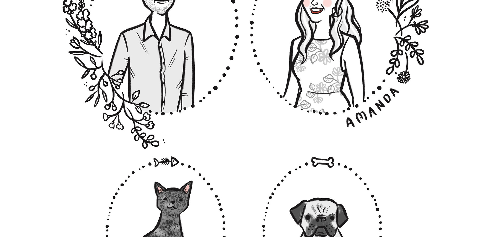 bw couple portrait cat dog.jpg