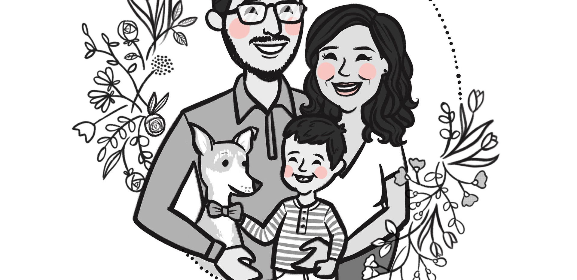 bw family portrait dog son.jpg