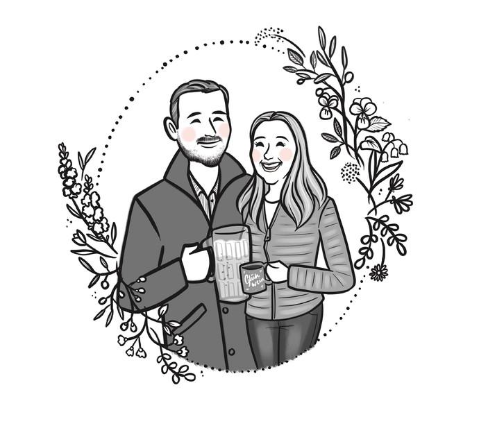 bw beer couple portrait.jpg