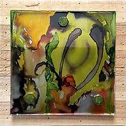 kimberly levi_green patterns_mixed media
