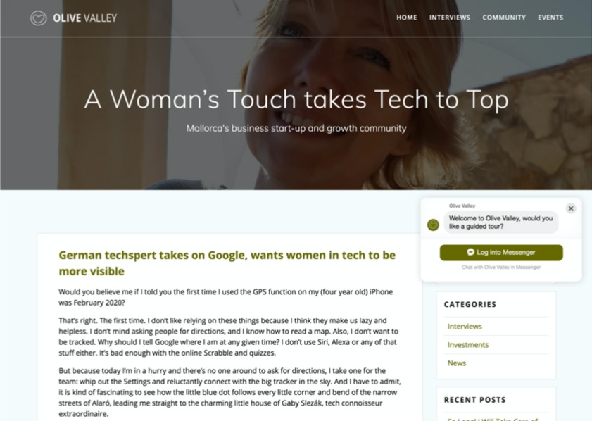 A Womens touch takes tech to top new
