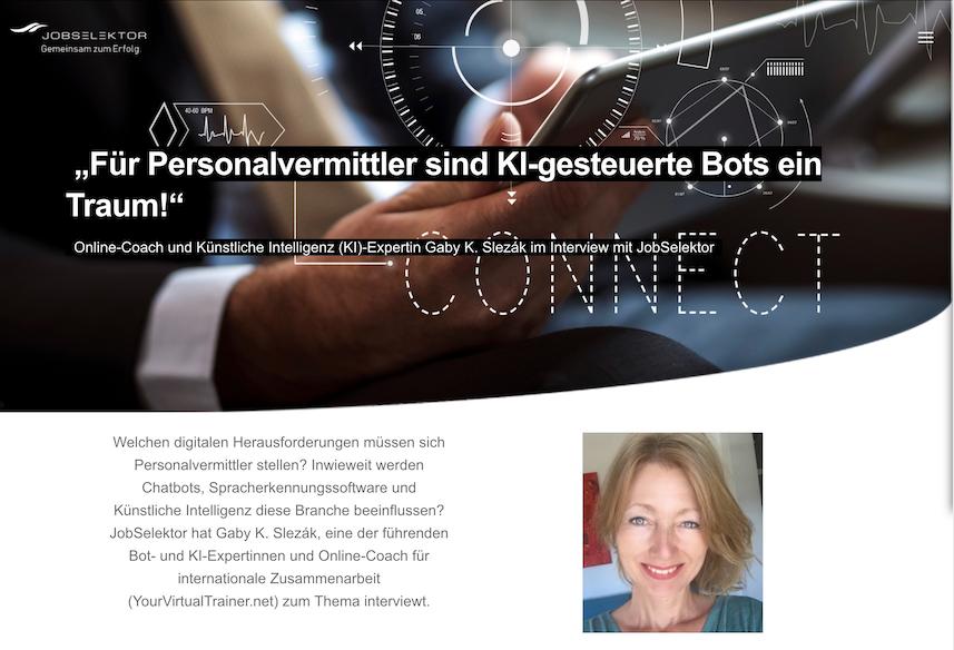 Interview in Jobselektor: AI & Chatbots in Recruiting (DE)
