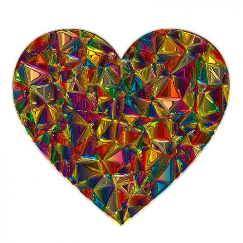 22/03 Mothers Day Glass Hearts