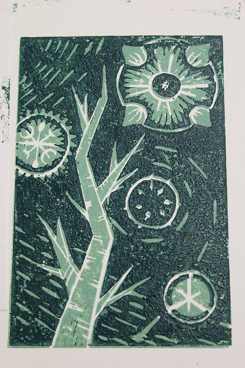 11/10 Printing - Lino cut through the landscape