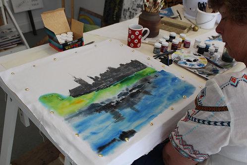 29/03 Memory Lane Batik and Ink Painting