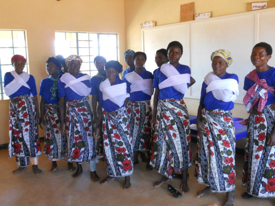 Women's group learning in Malawi