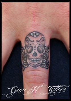 Finger Skull Tattoo