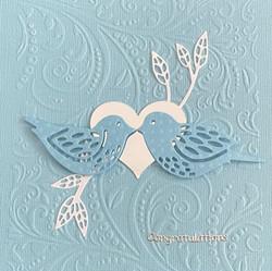 happy blue birds