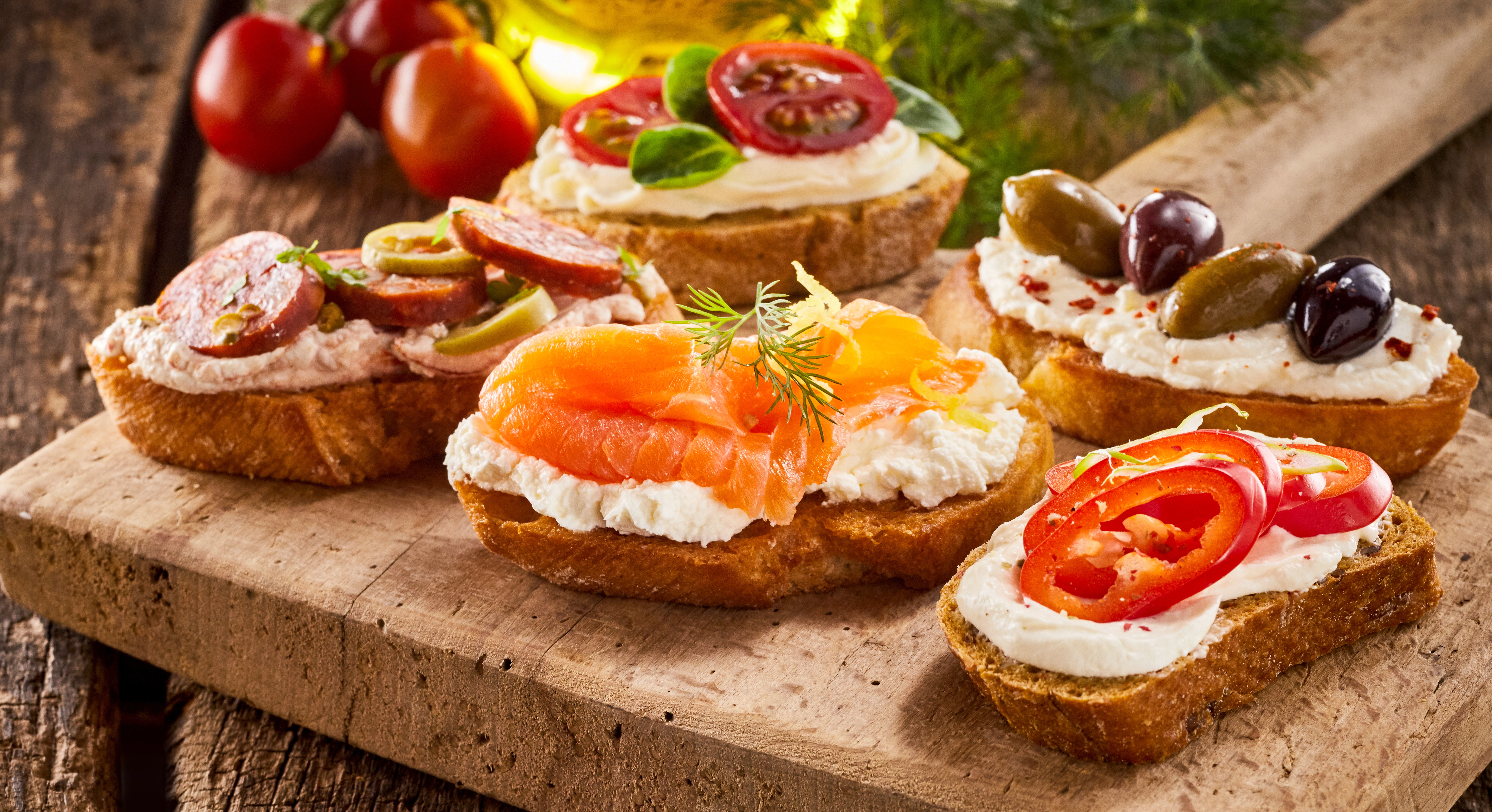 Example of a selection of canapes