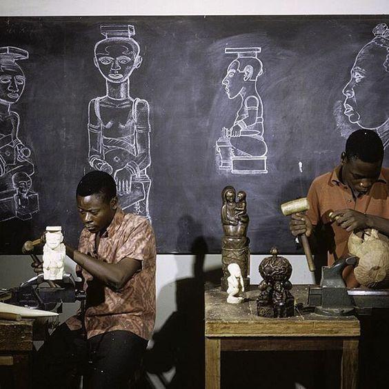 Mushenge Art School, Mushenge, Democratic Republic of the Congo, 1972 ©Eliot Elisofon