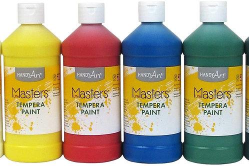 Liquid Tempera Paint, Set of 6