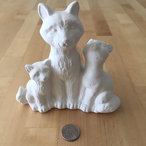 Fox Family Ceramic - Pick•Up Only