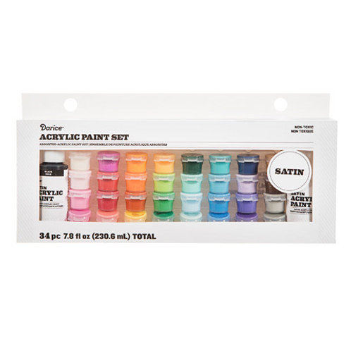 Darice 34 ct Acrylic Paint Pot Set