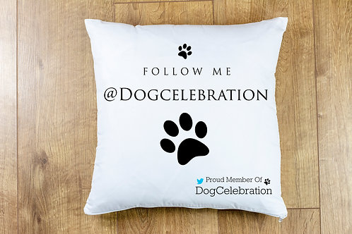 "Twitter ""Follow Me @"" Cushion Cover"