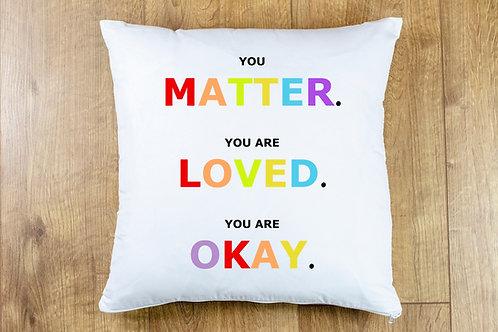 YOU MATTER Cushion cover