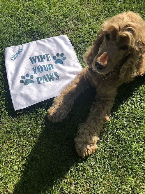 Wipe your paws Mini Personalised Towel