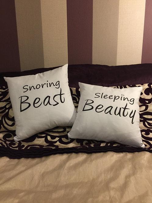 """Pair - """"Sleeping Beauty"""" & """"Snoring Beast"""""""