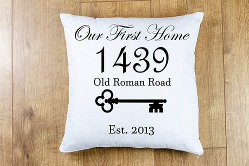"""""""Our First/New Home"""" Cushion Cover"""