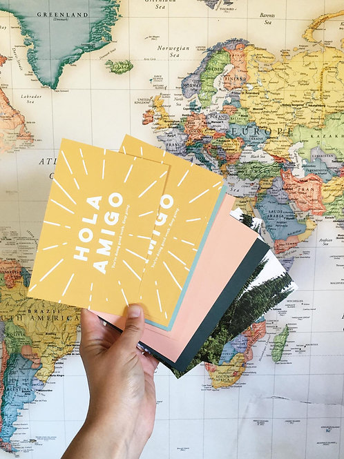 """""""Hola Amigo"""" Postcard"""