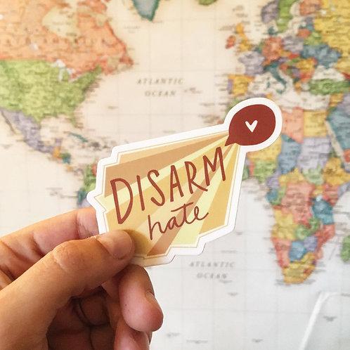 Disarm Hate Sticker
