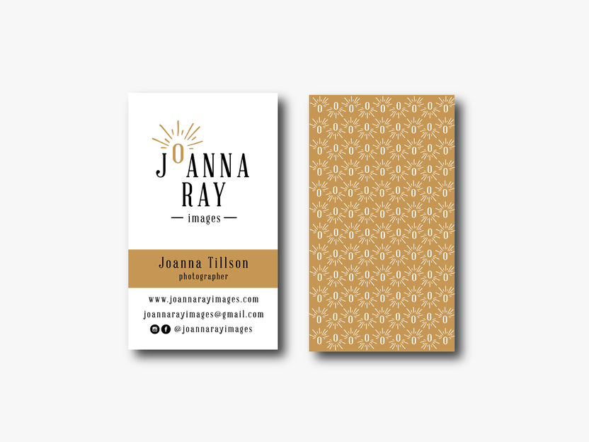 Sample business card with custom pattern