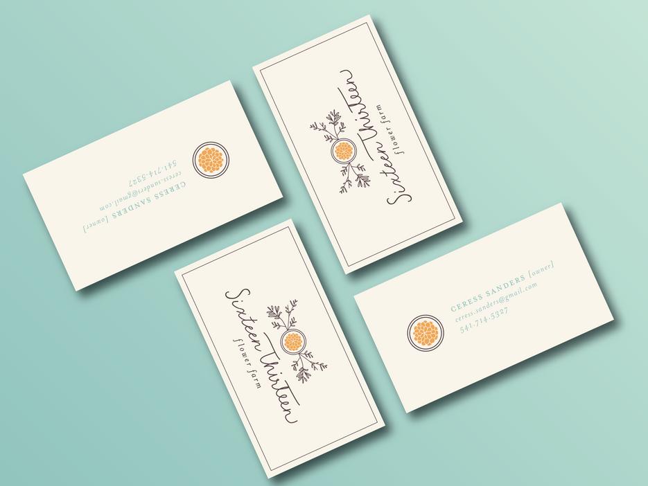 Sixteen Thirteen business cards