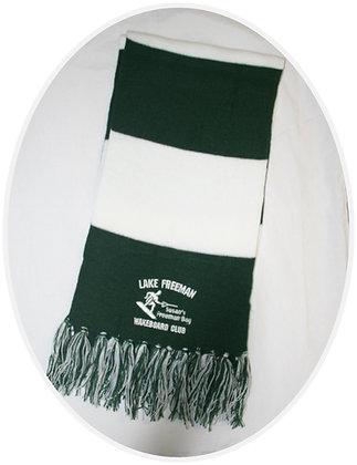Winter Scarf (Green & White)