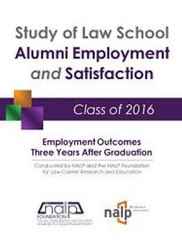 Study of Law School Alumni Employment & Satisfaction - Class of 2016 Employment