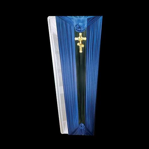 недорогой синий гроб фотография