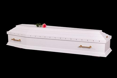 белый гроб с розой фото