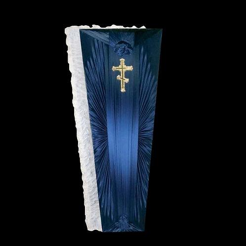 синий гроб обитый тканью фото