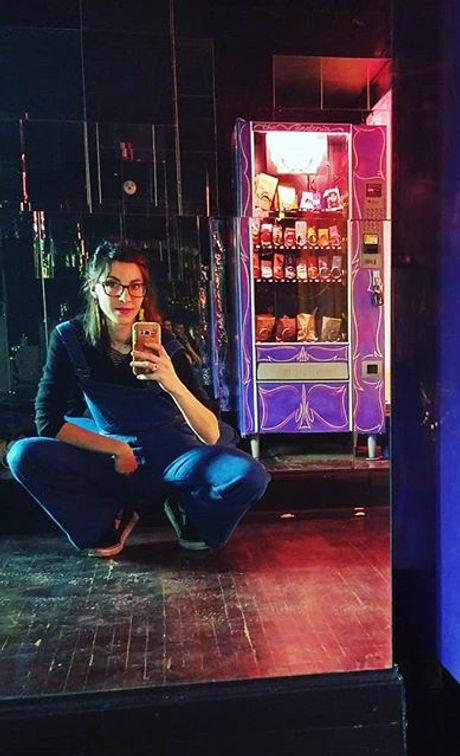#selfie in a vending vortex, a.k.a.  the