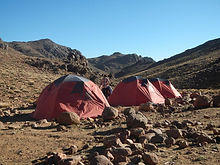 Wild Camping on the trek trails in the Atlas Mountains