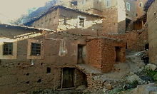 Typical stone built houses in the High Atlas Berber Villages