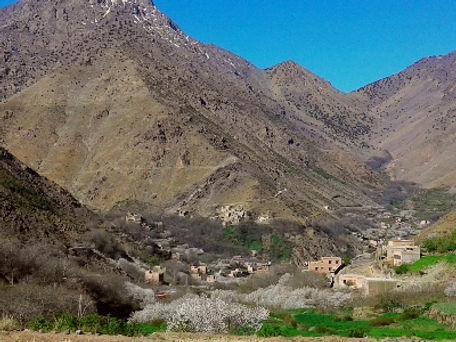 One Day Trek up to the pass of Tizi Mzik near Imlil