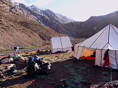 Camping out on the trekking trails of the High Atlas