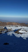 Skiing on the slopes of the High Atlas Mountains