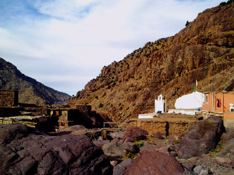 One Day Trek up the Toubkal Trail to the shrine of Sidi Chamharouch