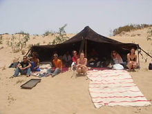 A Goat Hair Haima or Nomads Tent in the Sahara